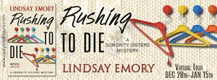 Rushing to Die: Sorority Sisters #2 by Lindsay Emory with Excerpt and Giveaway